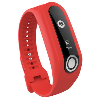 Merk 123watches TomTom Touch silicone gesp band - rood