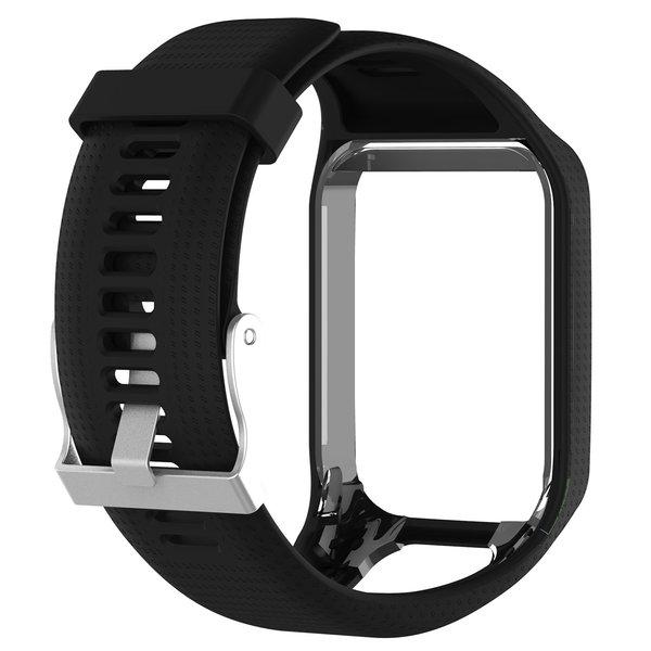 123Watches Bracelet en silicone TomTom Runner / Spark / Adventure - Noir