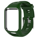 123Watches TomTom Runner / Spark / Adventure Silicone buckle strap - army green