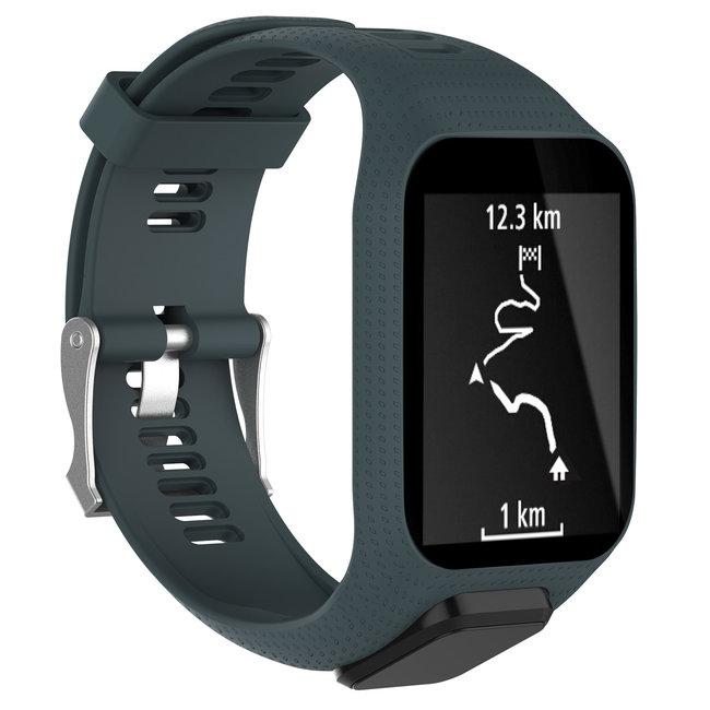 Merk 123watches TomTom Runner / Spark / Adventure silicone gesp band - leisteen
