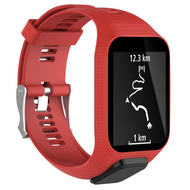 Merk 123watches TomTom Runner / Spark / Adventure silicone gesp band - rood