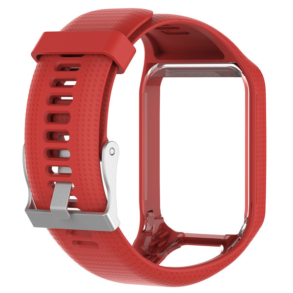 123Watches TomTom Runner / Spark / Adventure silicone gesp band - rood