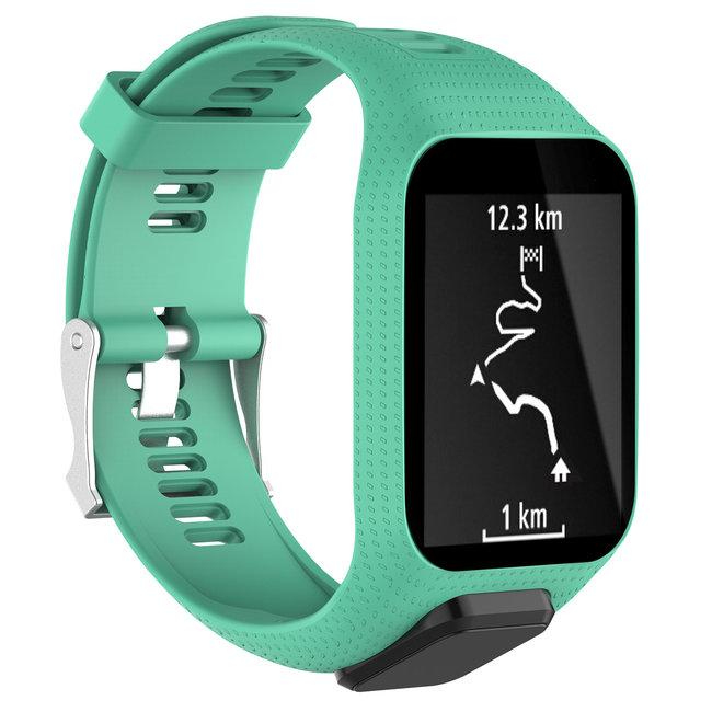 Merk 123watches TomTom Runner / Spark / Adventure silicone gesp band - groenblauw