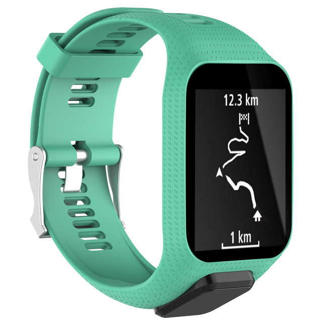 TomTom Runner / Spark / Adventure Silicone buckle strap - teal
