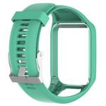 123Watches TomTom Runner / Spark / Adventure silicone gesp band - groenblauw