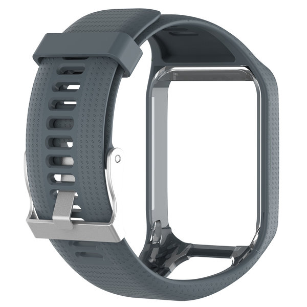 123Watches TomTom Runner / Spark / Adventure silicone gesp band - grijs