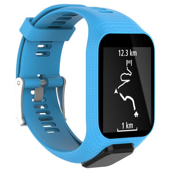 123Watches TomTom Runner / Spark / Adventure silicone gesp band - blauw