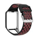 123Watches Bracelet en silicone à double boucle TomTom Runner / Spark / Adventure - noir rouge