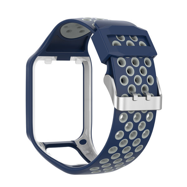 123Watches TomTom Runner / Spark / Adventure Silicone double buckle strap - blue gray