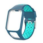123Watches TomTom Runner / Spark / Adventure silicone dubbel gesp band - blauw tahou blauw