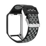 123Watches Bracelet en silicone à double boucle TomTom Runner / Spark / Adventure - gris noir