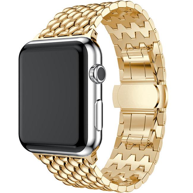 Apple watch draak stalen schakel band - goud