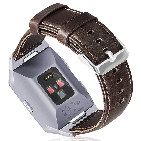 123Watches Fitbit Ionic genuine leather band - dark brown