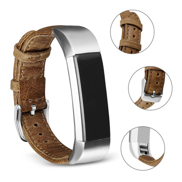 123Watches Fitbit Alta genuine leren band - lichtbruin