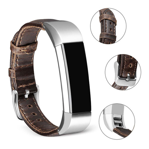 123Watches Fitbit Alta genuine leren band - donkerbruin