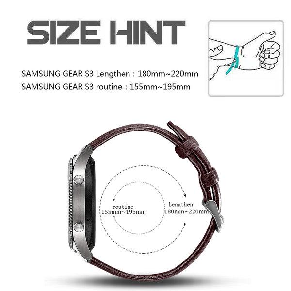 123Watches Bracelet genuine apprendre Samsung Galaxy Watch - marron foncé
