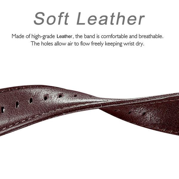 123Watches Garmin Vivoactive / Vivomove genuine leather band - dark brown