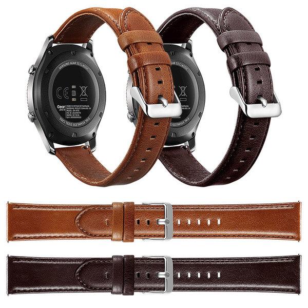 123Watches Huawei watch GT genuine leather band - dark brown