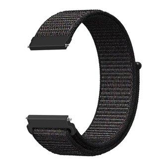 Merk 123watches Samsung Galaxy Watch nylon sport band - zwart mix