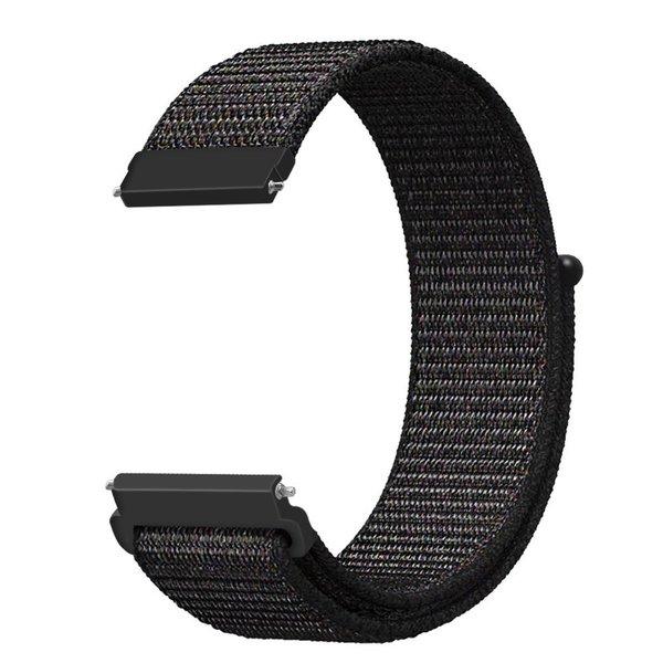 123Watches Bracelet Sport en Nylon pour Samsung Galaxy Watch - mélange noir