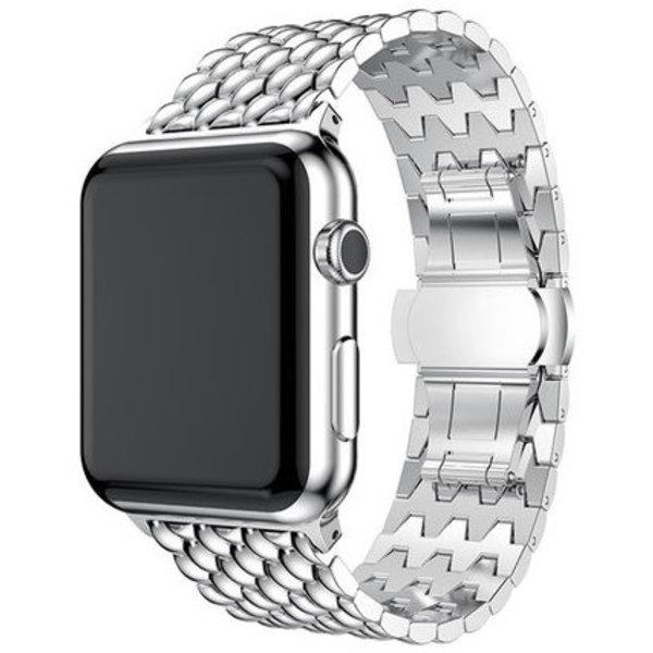 123Watches Apple watch dragon steel link - silver