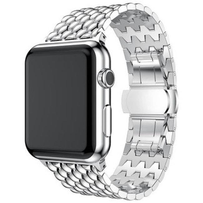 Apple watch draak stalen schakel band - zilver