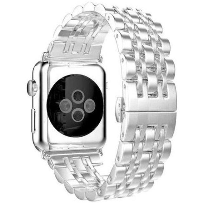 Merk 123watches Apple watch rvs schakel band - zilver