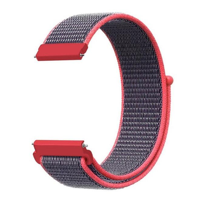 Merk 123watches Garmin Vivoactive / Vivomove nylon sport band - elektrisch roze