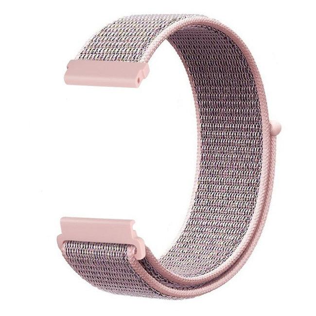 Merk 123watches Garmin Vivoactive / Vivomove nylon sport band - roze zand