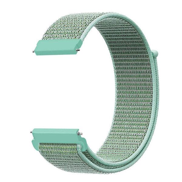 123Watches Garmin Vivoactive / Vivomove nylon sport band - marine groen