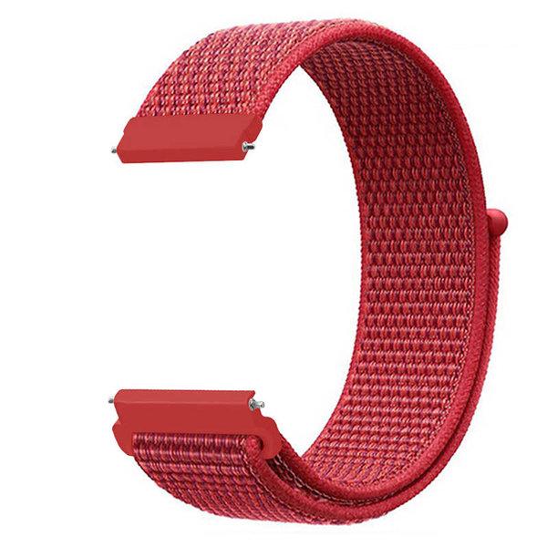 123Watches Bracelet Sport en Nylon pour Garmin Vivoactive / Vivomove - rouge