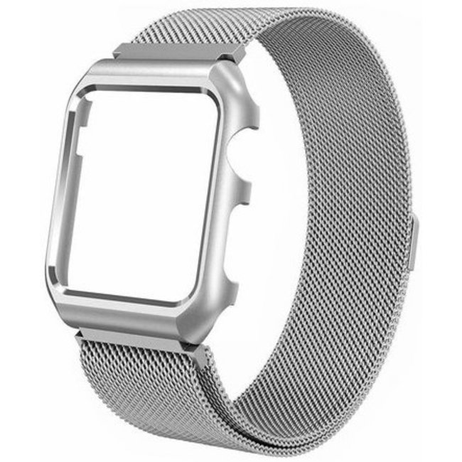123Watches Apple watch milanese case band - zilver