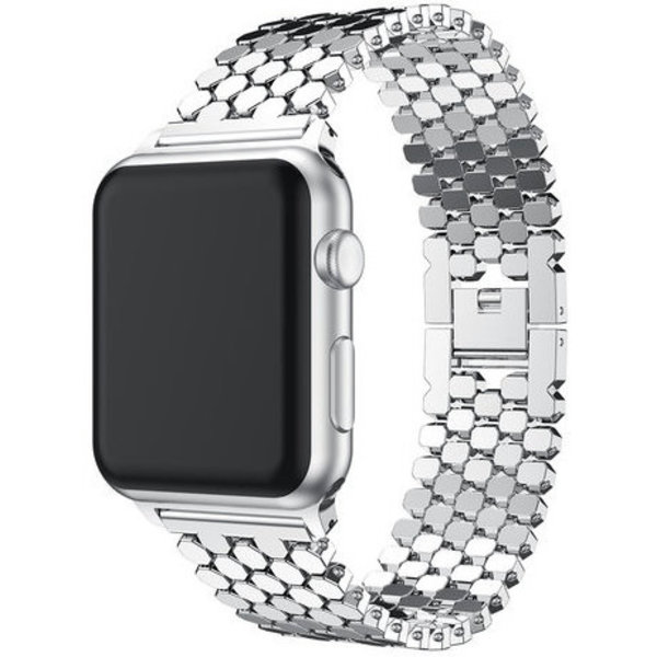 123Watches Apple watch fish steel link - silver