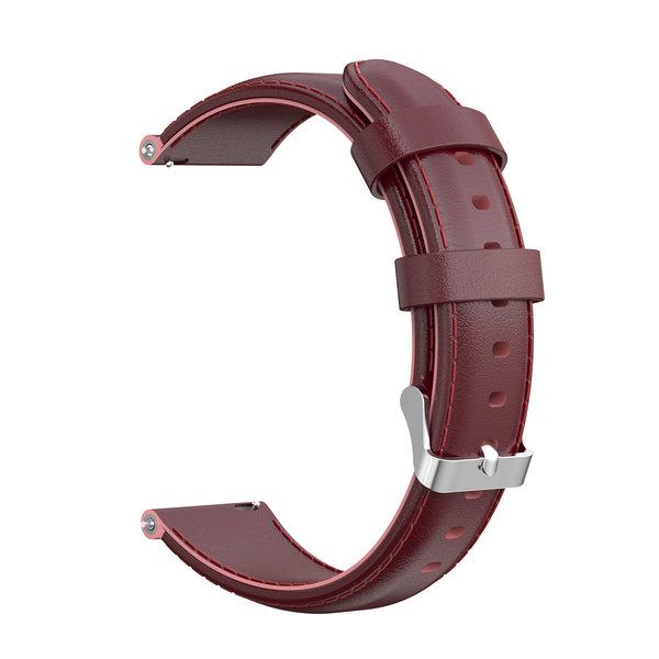 123Watches Samsung Galaxy Watch leren band - wijn rood