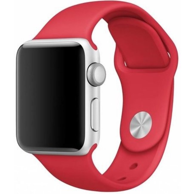 Merk 123watches Apple watch sport band - rood