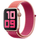 123Watches Apple watch nylon sport loop band - pomegranate