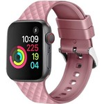 123Watches Apple watch rhombic silicone band - rose