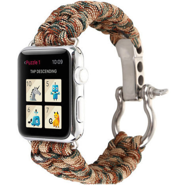 Apple watch nylon rope band - camouflage brown