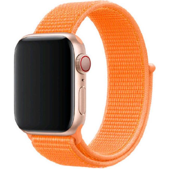 Apple watch nylon sport loop band - papaya