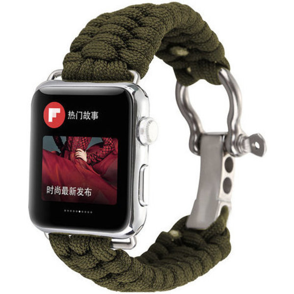 123Watches Apple watch nylon rope band - green