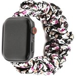 123Watches Apple watch scrunchie band - flowers purple