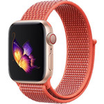 123Watches Apple watch nylon sport loop band - nectarine