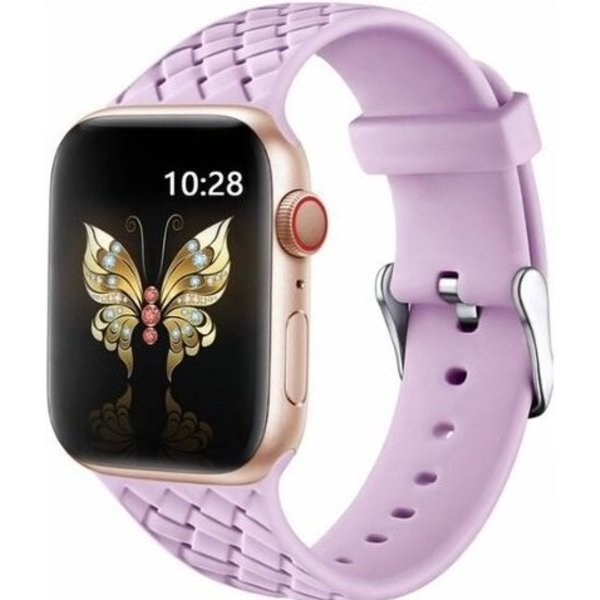 123Watches Apple watch woven silicone band - lavendel