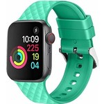 123Watches Apple watch rhombic silicone band - vert