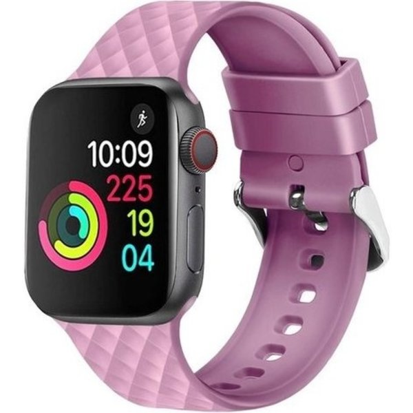123Watches Apple watch rhombic silicone band - lavendel