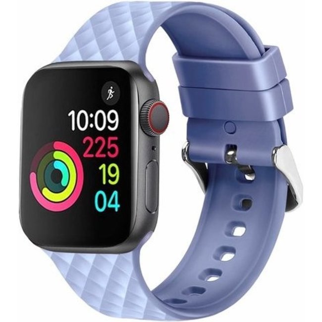 Apple watch rhombic silicone band - sky blue