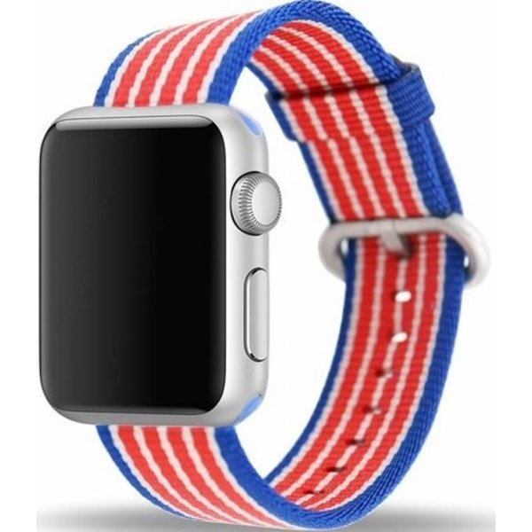 123Watches Apple watch nylon gesp band - american