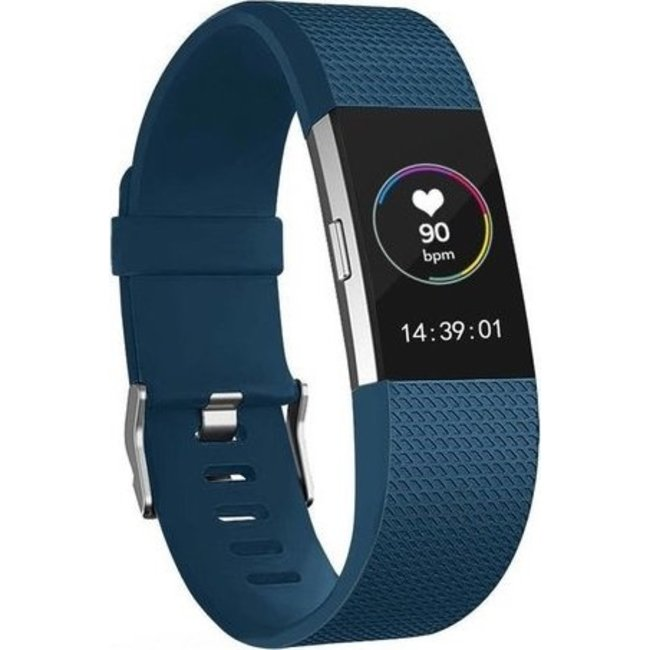 123Watches Fitbit charge 2 sport band - donkerblauw