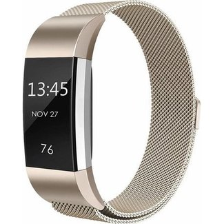 Merk 123watches Fitbit charge 2 milanese band - champagne