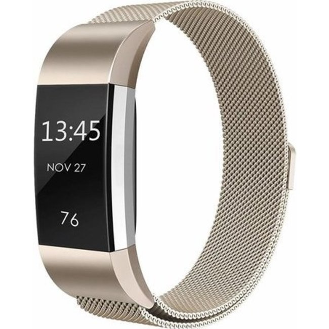 Fitbit charge 2 milanese band - champagne